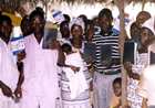 New converts and new church members receive copies of the Bible in their own native language.
