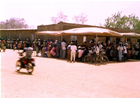 Medical Missions with CRMF: A general look at the crowds gathered and patiently waiting to be attended to.