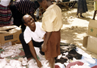 Used shoes and clothing are received from Christians like you. These clothing items serve as blessings unto the people that receive them.